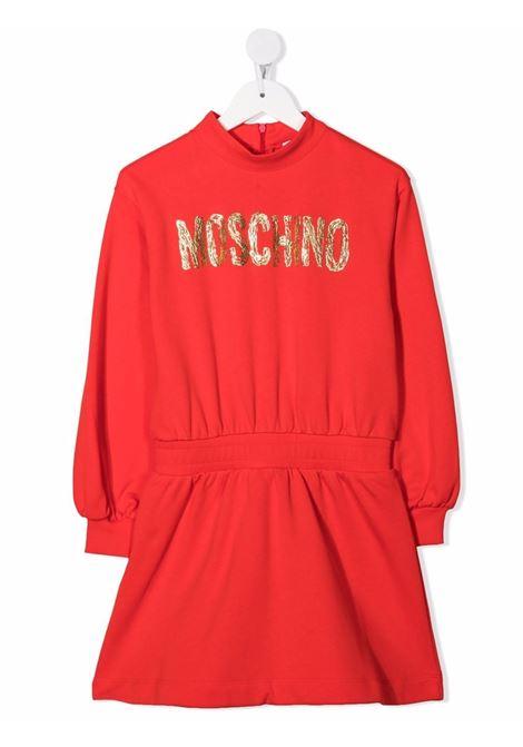 moschino kid abito con scritta logo oro MOSCHINO KIDS | Abito | HDV0B9LCA2350842