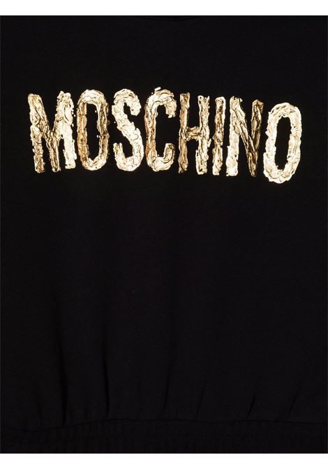 moschino kid abito con scritta logo oro MOSCHINO KIDS | Abito | HDV0B9LCA2360100