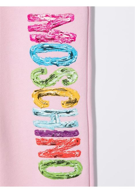 moschino kid pantalone in felpa con scritta logo MOSCHINO KIDS | Pantalone | HNP034LCA2350256