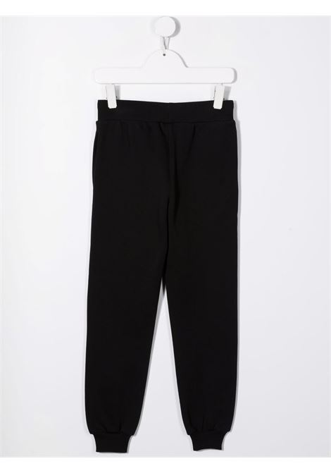 moschino kid pantalone in felpa con scritta logo MOSCHINO KIDS | Pantalone | HNP034LCA2360100
