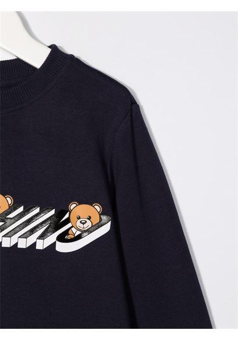 moschino felpa con stampa orsetti MOSCHINO KIDS | Felpa | HUF05LLDA1840016