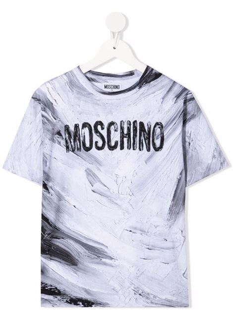 moschino kid tshirt con scritta logo multicolor MOSCHINO KIDS | Maxi t shirt | HUM039LAA1010101