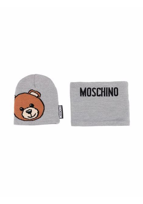 moschino cappello con collo con stampa orso MOSCHINO KIDS | Set cappello | HUX01GLHE1860901