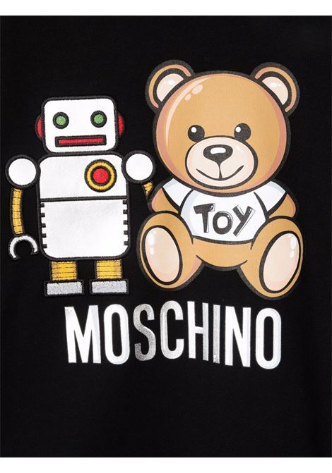 moschino felpa con stampa orsetto e robot MOSCHINO KIDS | Felpa | HXF039LDA1660100