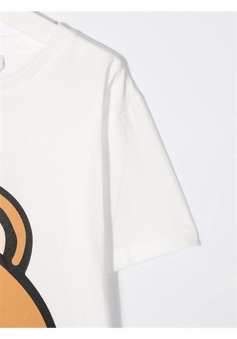 moschino maxi tshirt con stampa orsetto MOSCHINO KIDS | Maxi tshirt | HXM02XLBA1210063
