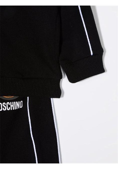 moschino felpa cappuccio con pantalone con orsetto gommato MOSCHINO BABY | Completo | MUK03BLDA1760100