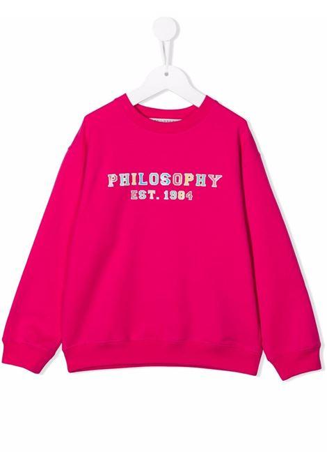 philosophy kids felpa girocollo con stampa logo multicolor Philosofy kids | Felpa | PJFE56FE147YP002C002
