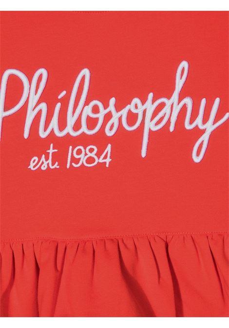 philosophy kids  felpa girocollo con scritta logo a rilievo Philosofy kids | Felpa | PJFE59FE147YP0343034T