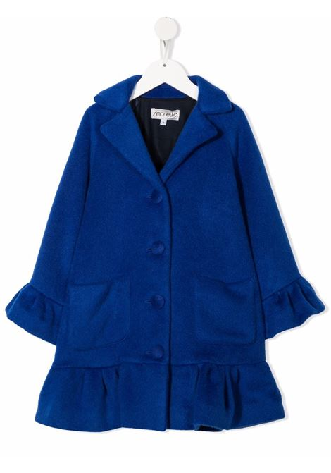 simonetta cappotto in lana con balza e manica campanella SIMONETTA | Cappotto | 1P2040E0031613