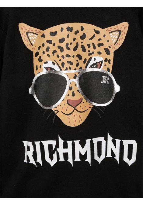 john richmond felpa cappuccio con stampa ermosa john richmond | Felpa | RBA21046FEW0148