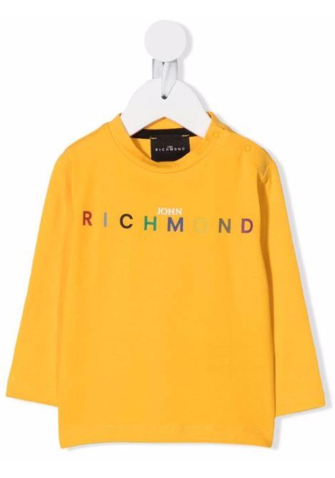 john richmond tshirt con stampa logo multicolor john richmond | Tshirt | RIA21055TSW5379