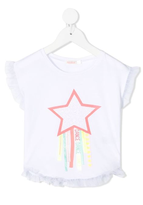 blusa con orli in tulle e con applicazione stella billieblush Billieblush | Tshirt | U1586910B