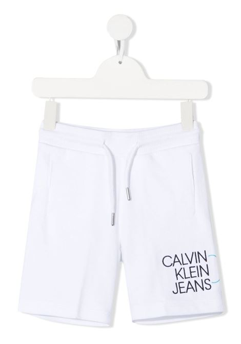 calvin klein bermuda in felpa logato CALVIN KLEIN | Bermuda | IB0IB00798YAF