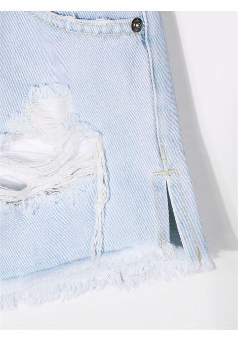 chiara ferragni shorts in denim con rotture e logo CHIARA FERRAGNI | Shorts | CFKS002DNM