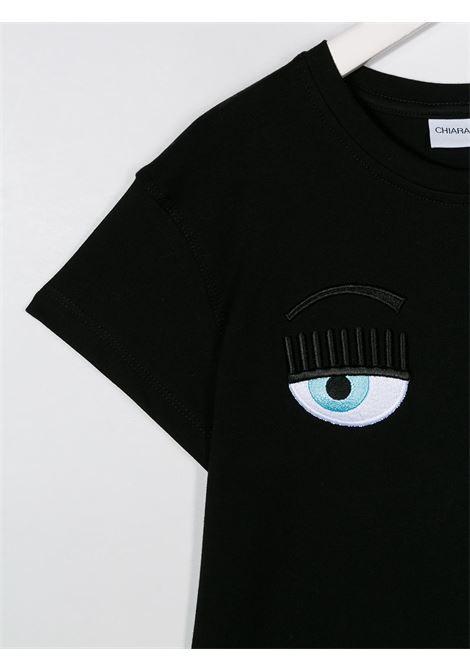 chiara ferragni tshirt con occhi logo CHIARA FERRAGNI | Tshirt | CFKT005BLK