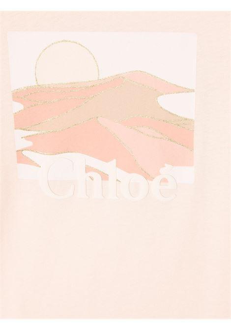 abito con frange con stampa logo chloe' CHLOE'   Abito   C1281245F