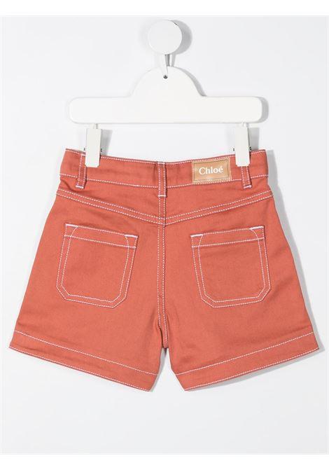 shorts alto in vita con cuciture a contrasto chloe' CHLOE' | Shorts | C14657366