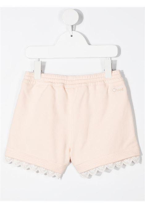 shorts in felpa con pizzo logato chloe' CHLOE' | Shorts | C1465945F