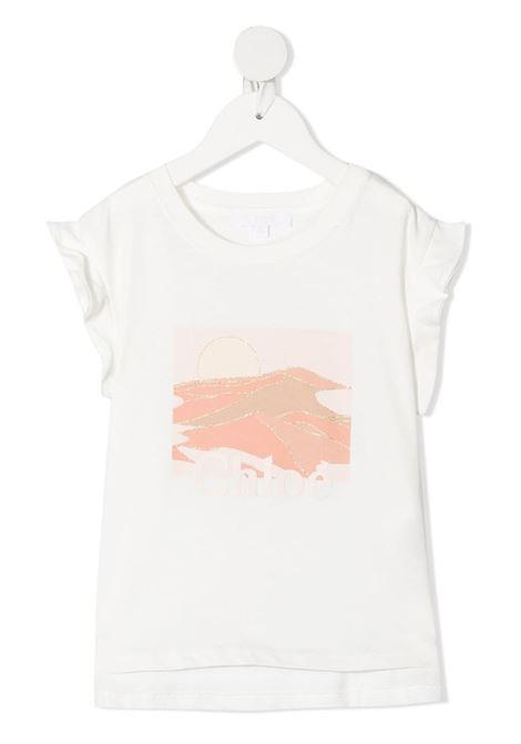 tshirt con stampa logo chloe' CHLOE' | Tshirt | C15B68117