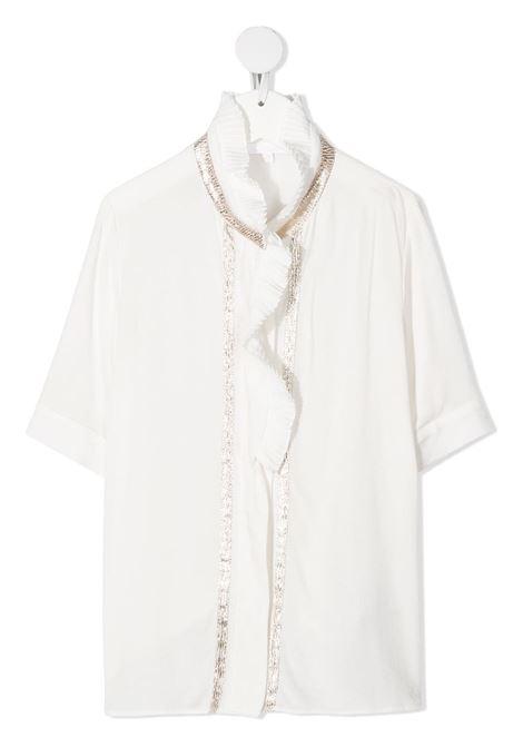 camicia con rouches e profili in oro chloe' CHLOE' | Camicia | C15B69117