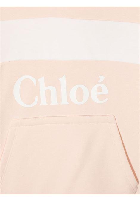 felpa mezza manica con cappuccio e stampa logo chloe' CHLOE' | Felpa | C15B8045FT