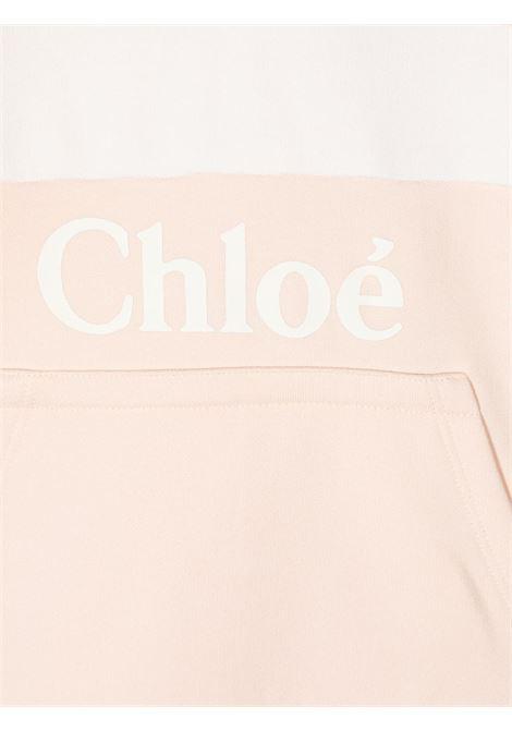 felpa mezza manica con cappuccio e stampa logo chloe' CHLOE' | Felpa | C15B8045F