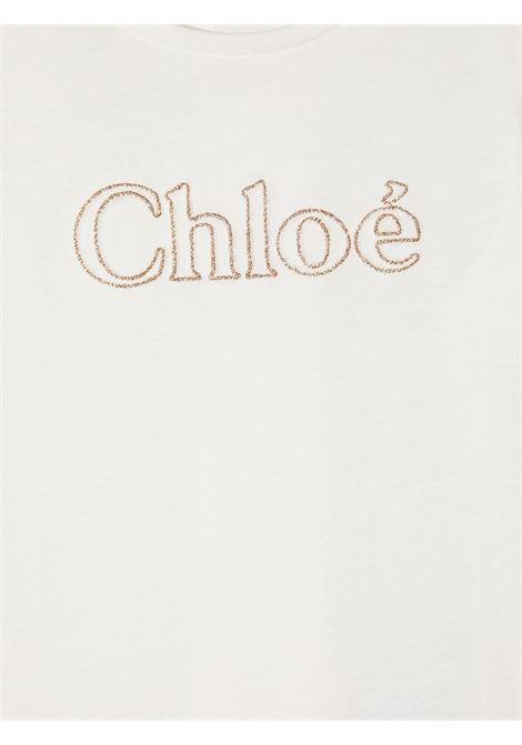 tshirt con scritta logo chloe' CHLOE' | Tshirt | C15B84117