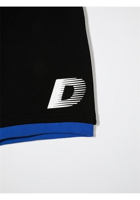 dkny bermuda in felpa con scritta logo DKNY | Bermuda | D2473109BT