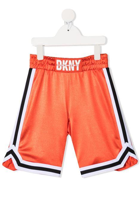 dkny bermuda acetato con bande laterali e logo DKNY | Bermuda | D24737982