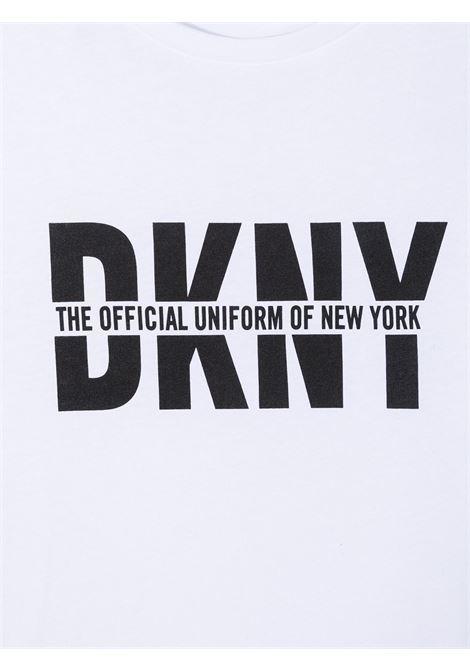 dkny tshirt con stampa scritta logo DKNY | Tshirt | D25D2610BT