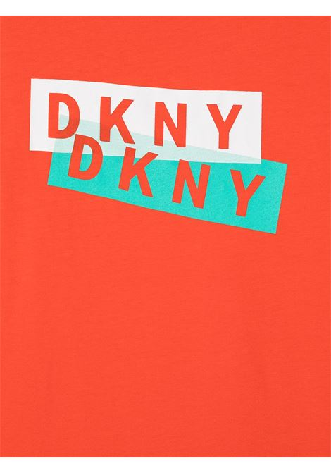 dkny tshirt con stampa scritta logo DKNY | Tshirt | D25D27982