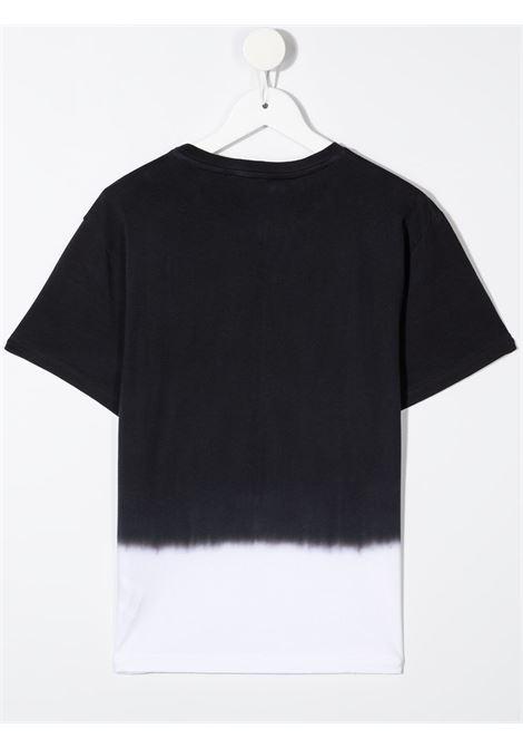 dkny tshirt bicolore con stampa scritta  logo DKNY | Tshirt | D25D34M41