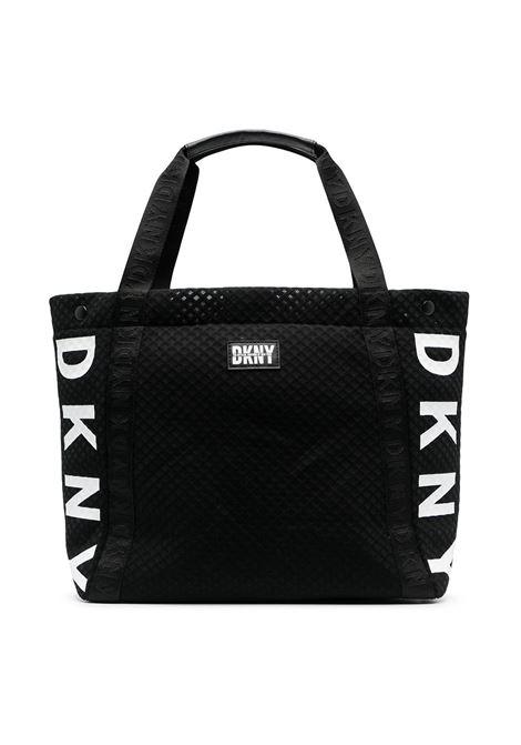 dkny borsa in tessuto con stampa scritta  logo DKNY | Borsa | D3050509B