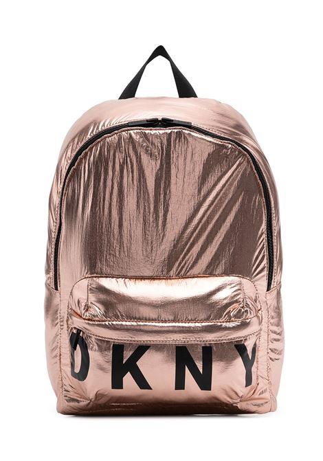 dkny zaino in tessuto laminato con stampa scritta  logo DKNY | Zaino | D30510Z95