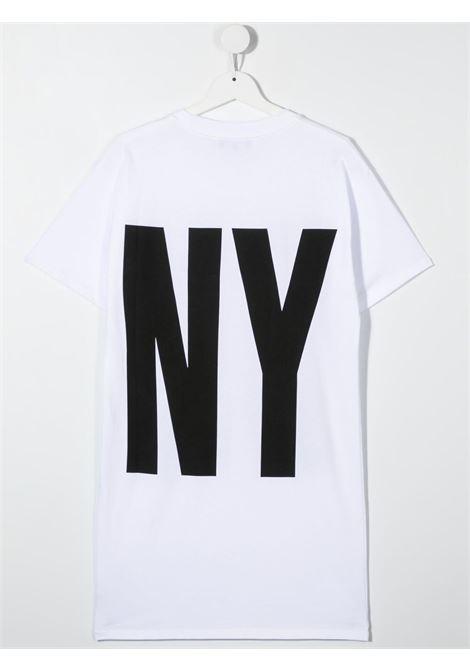 dkny abito in cotone  con stampa scritta  logo DKNY | Abito | D3277710BT