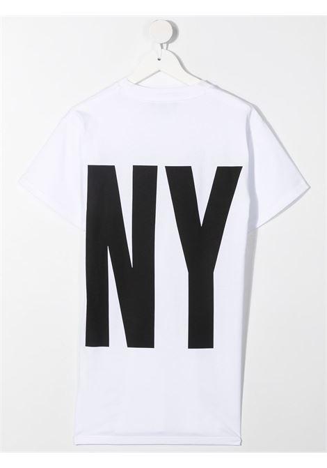 dkny abito in cotone  con stampa scritta  logo DKNY | Abito | D3277710B