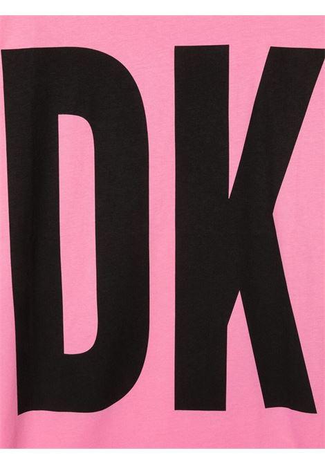 dkny abito in cotone  con stampa scritta  logo DKNY | Abito | D3277744GT
