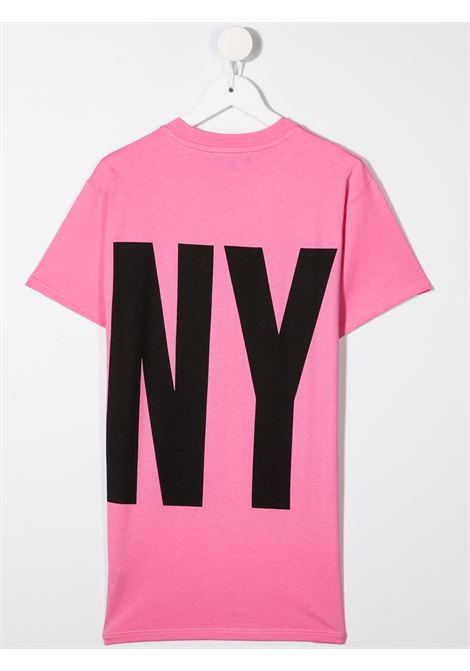 dkny abito in cotone  con stampa scritta  logo DKNY | Abito | D3277744G
