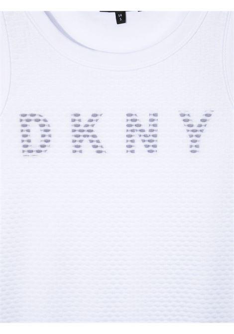 dkny abito canotta in cotone  con stampa scritta  logo DKNY | Abito | D3277910BT