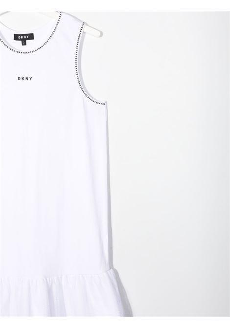 dkny doppio abito canotta in cotone  con stampa scritta  logo DKNY | Abito | D3278309BT