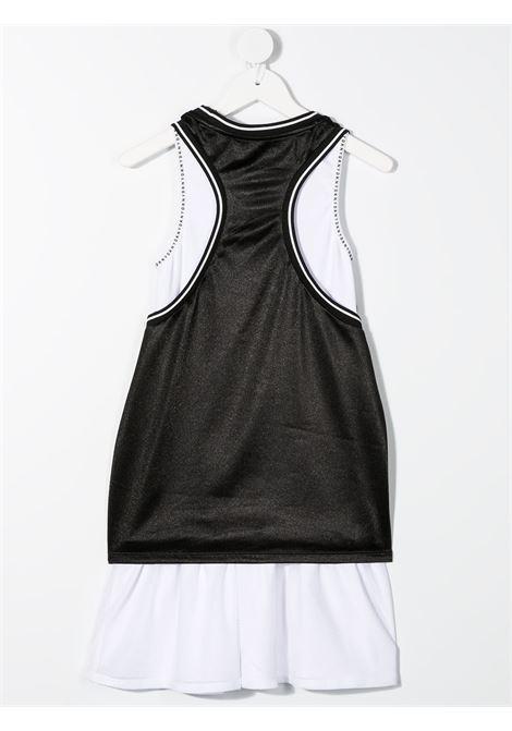 dkny doppio abito canotta in cotone  con stampa scritta  logo DKNY | Abito | D3278309B