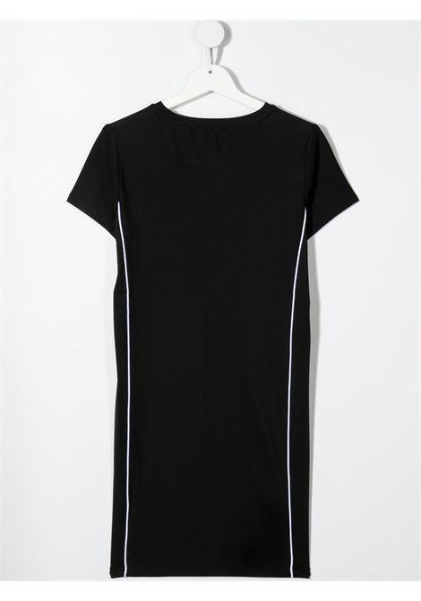 dkny abito in cotone  con profili laterale a contrasto e stampa scritta logo logo DKNY | Abito | D3278709BT