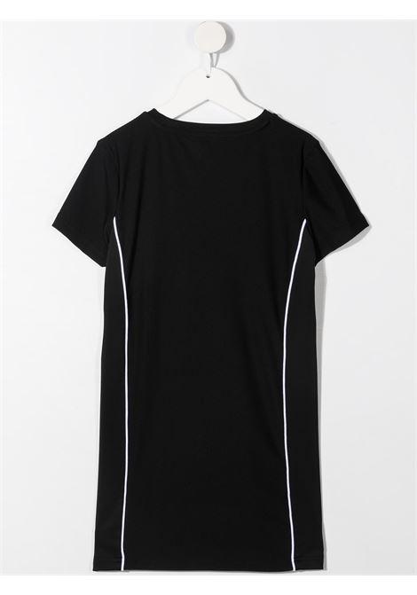dkny abito in cotone  con profili laterale a contrasto e stampa scritta logo logo DKNY | Abito | D3278709B