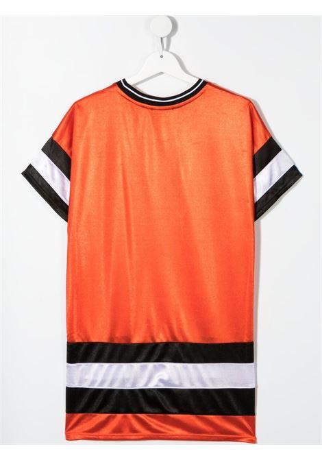 dkny abito con bande a contrasto e stampa scritta logo logo DKNY | Abito | D32790982T