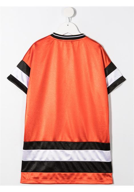 dkny abito con bande a contrasto e stampa scritta logo logo DKNY | Abito | D32790982