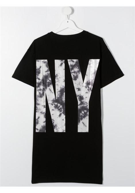 dkny abito in cotone con stampa scritta logo DKNY | Abito | D3279609BT