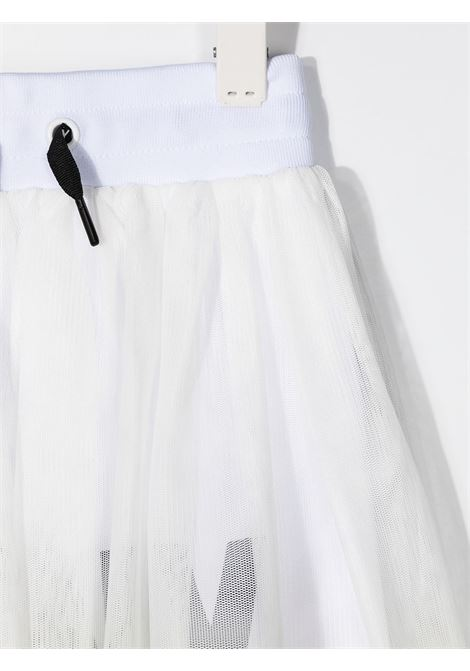 dkny gonna in cotone con sottogonna con  stampa scritta logo DKNY | Gonna | D3356960B