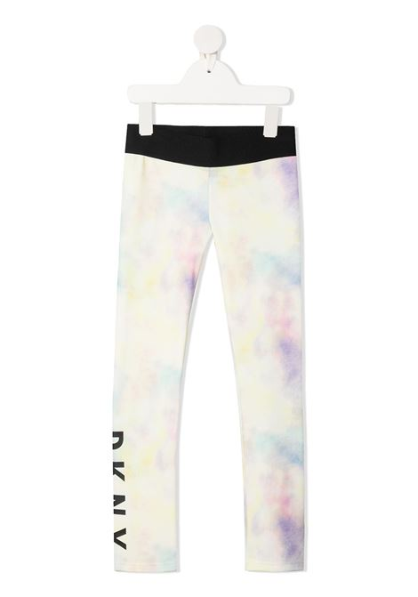 dkny leggins effetto sfumato con stampa scritta logo DKNY | Leggins | D34A10Z40