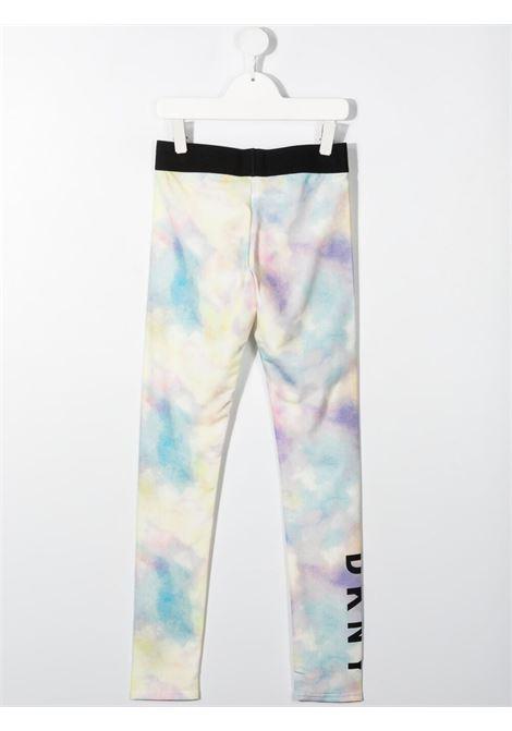 dkny leggins effetto sfumato con stampa scritta logo DKNY | Leggins | D34A10Z40T