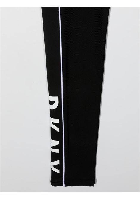 dkny leggins con profili a contrasto e con stampa scritta logo DKNY | Leggins | D34A1109BT